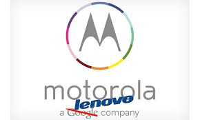 Motorola logo with Google's name crossed out and Lenovo's name added.