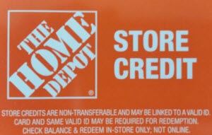 Home depot in store credit only gift card balance check the home depot merchandise store credit reheart Gallery