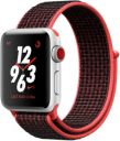 Apple Watch Series 3 Nike Plus 38mm Silver Aluminum Case with Bright Crimson Black Sport Loop MQL72LL/A GPS Cellular