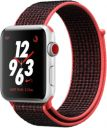 Apple Watch Series 3 Nike Plus 42mm Silver Aluminum Case with Bright Crimson Black Sport Loop MQLE2LL/A GPS Cellular
